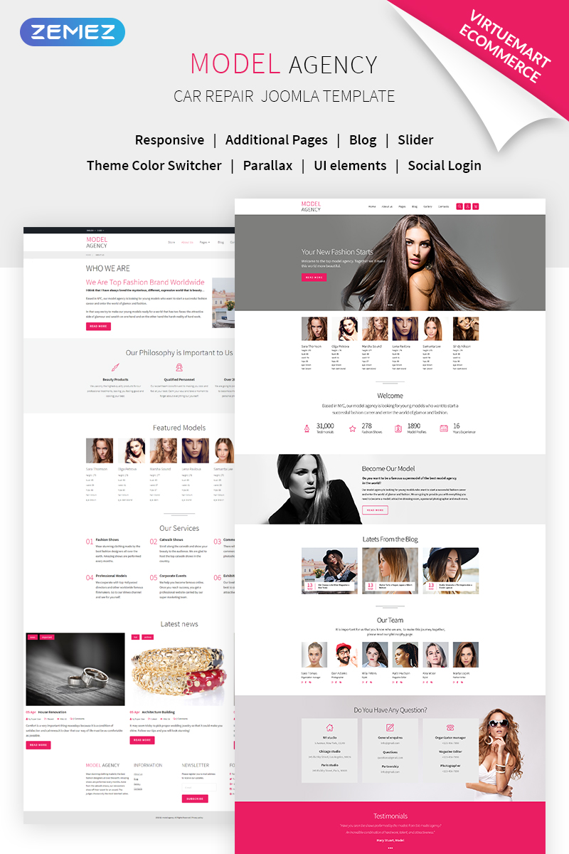 """Model agency + VM"" thème Joomla adaptatif #68721"