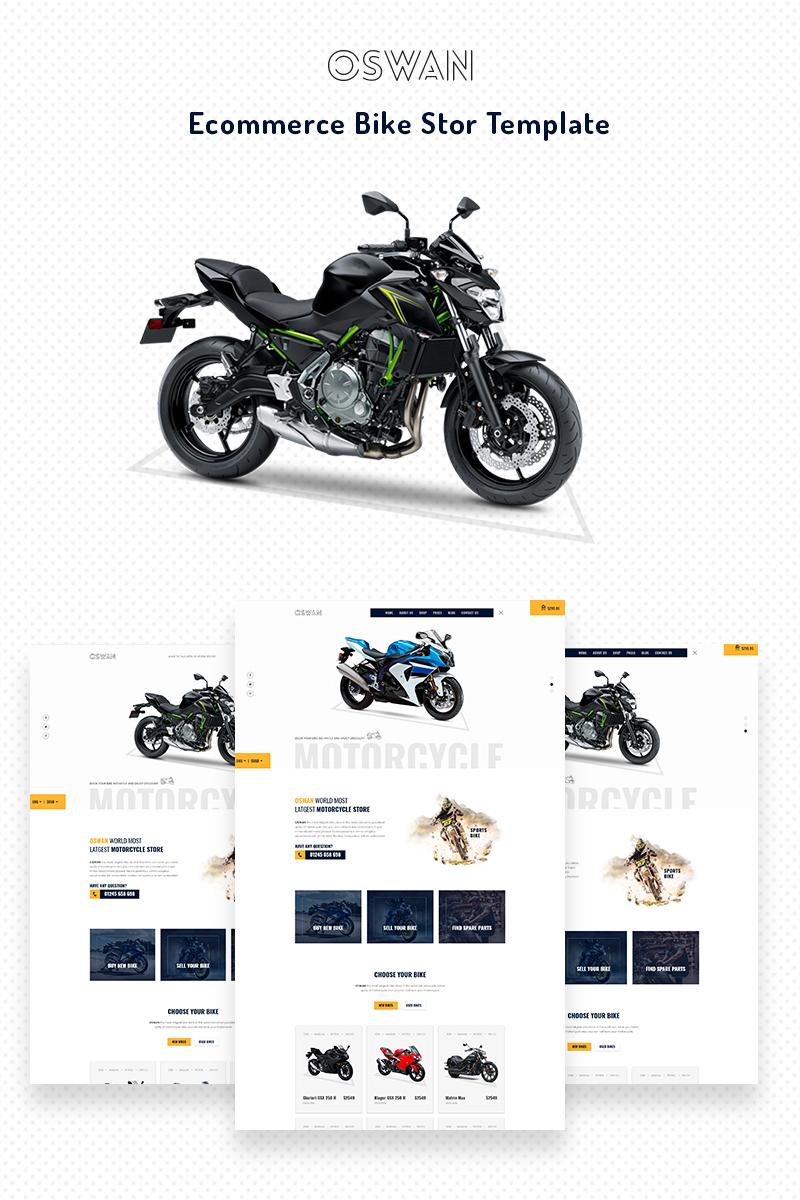 """""""Oswan - eCommerce Bike Store"""" - адаптивний Шаблон сайту №68709 - скріншот"""