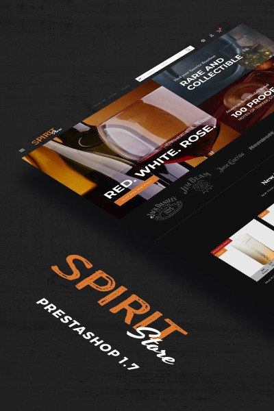 "PrestaShop Theme namens ""Spirit - Liquor store"" #68728"