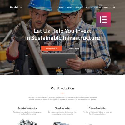 Responsywny motyw WordPress #68707 na temat: przemysł