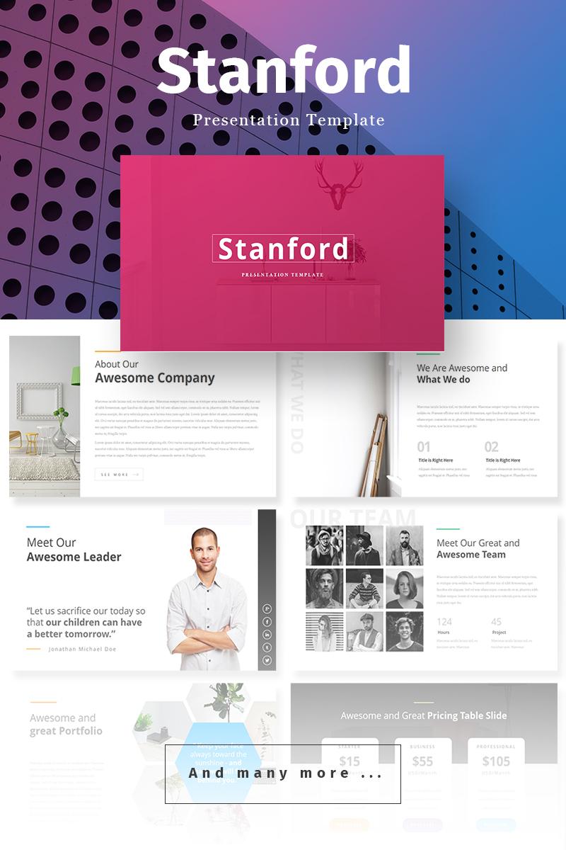 Szablon PowerPoint Stanford Creative Presentation #68701