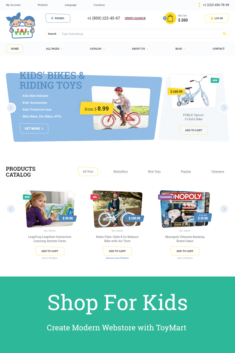 Toymart Store For Children Website Template 68708 Big