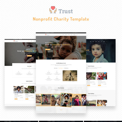 charity website template 40895