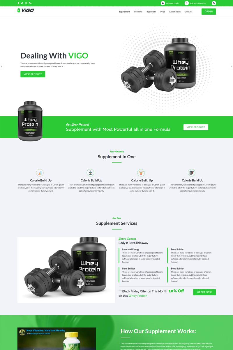 """VIGO - Single Product Supplement"" - адаптивний WordPress шаблон №68762"