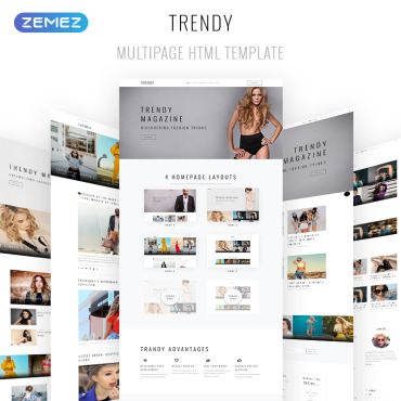 Preview image of Trendy - Fashion Magazine Multipage HTML5