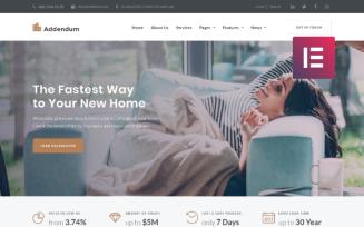 Addendum - Mortgage Company WordPress Elementor Theme