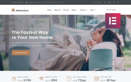 Addendum - Mortgage Company WordPress Elementor Theme WordPress Theme