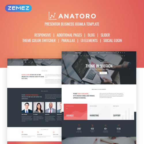 Anatoro Consulting IT & Presentor Business - Joomla! Template based on Bootstrap