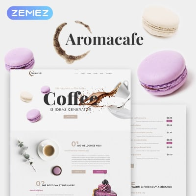 Coffee Shop Templates | TemplateMonster
