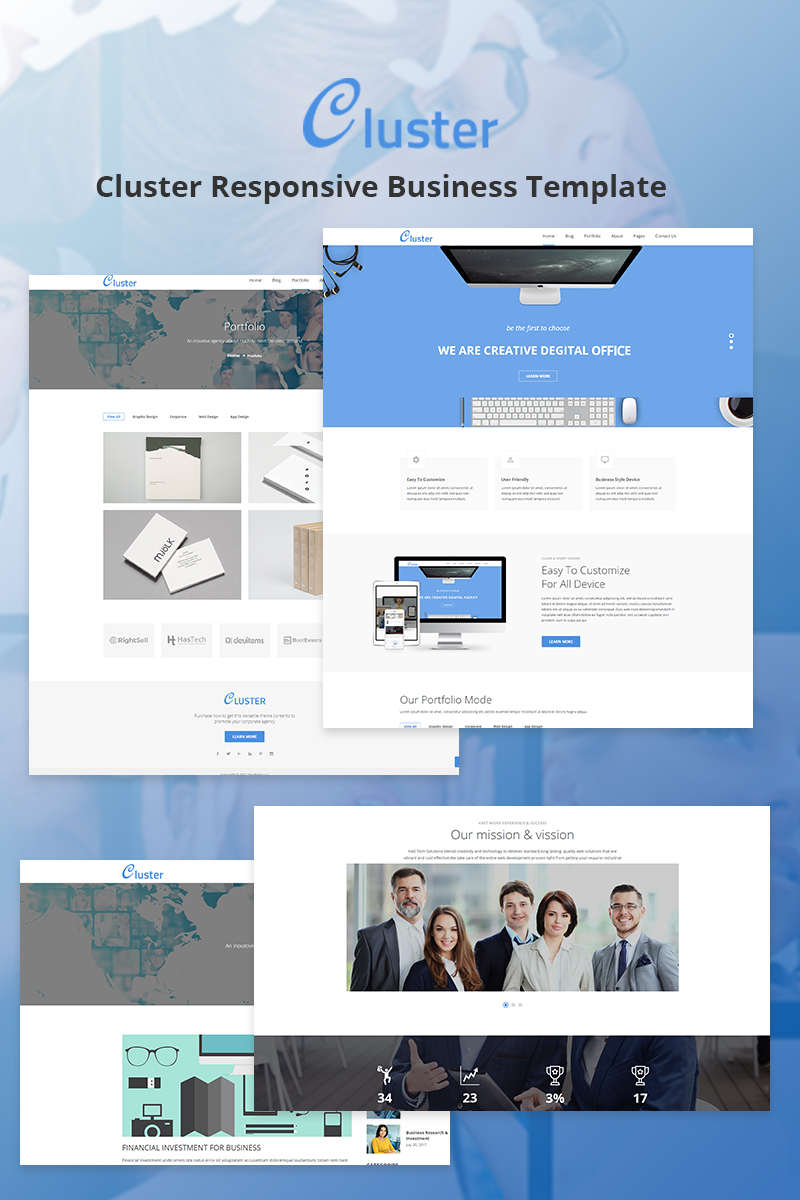 Cluster - Corporate Website Template