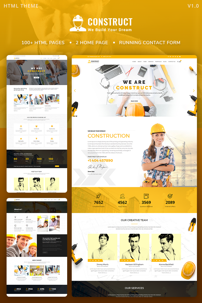Construct : Construction, Building & Maintenance Website Template