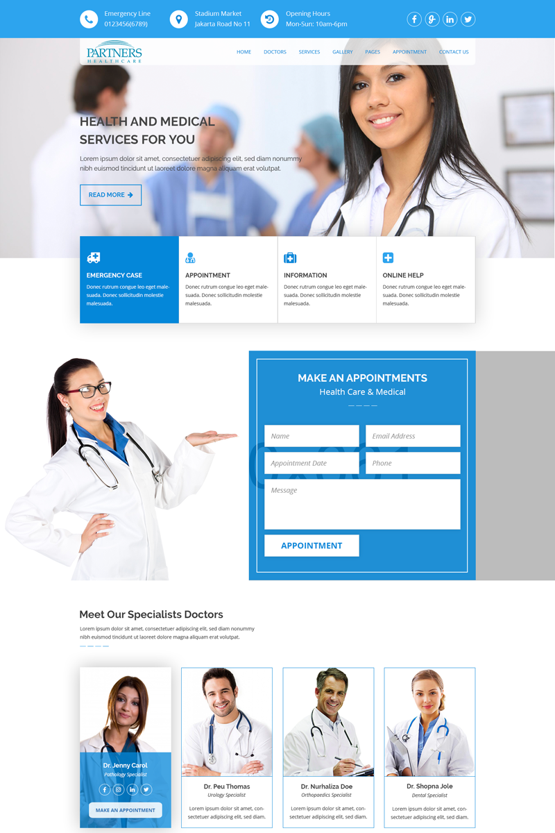 """HealthCare - Medical Health"" modèle PSD adaptatif #68810 - screenshot"