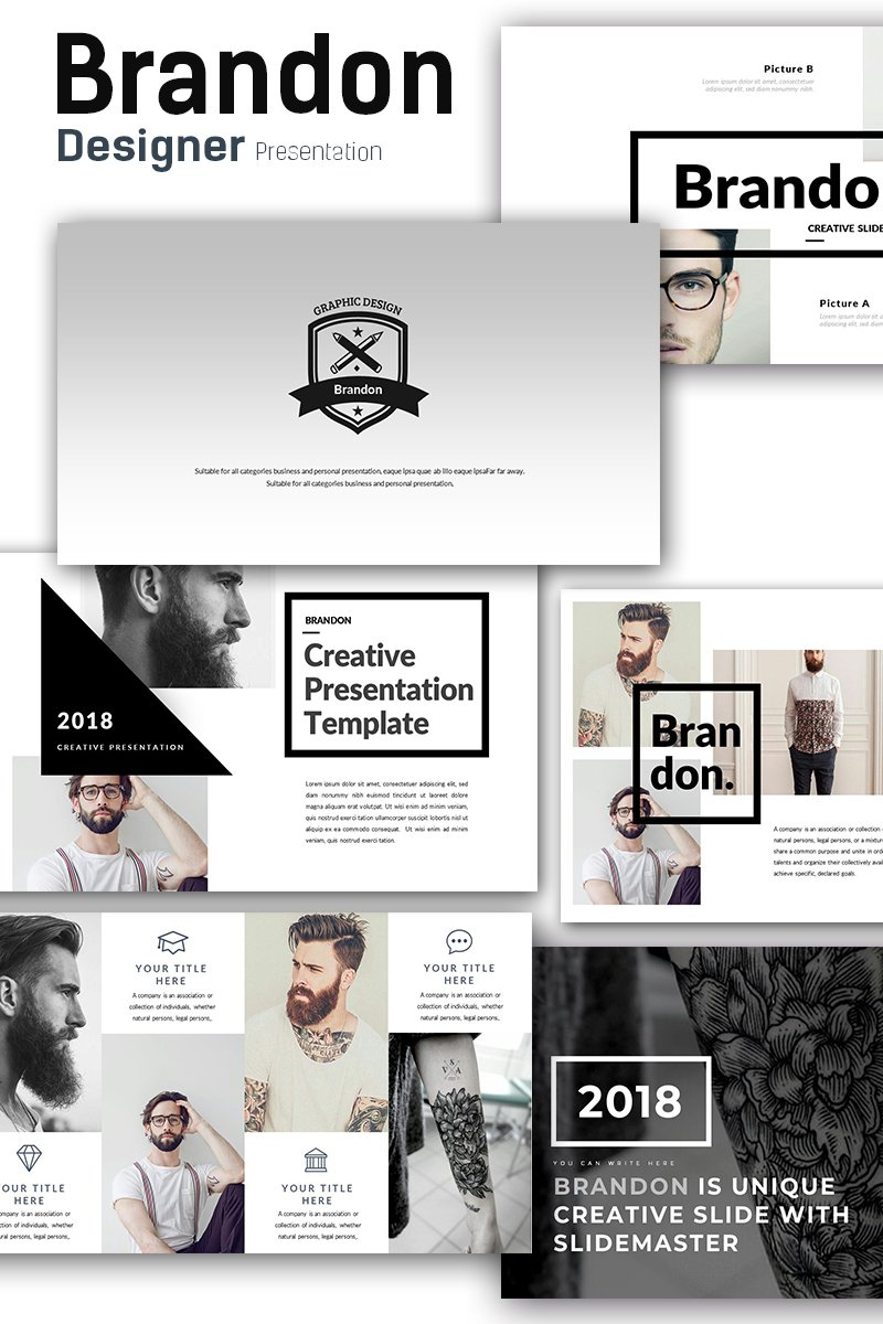 "Modello PowerPoint #68861 ""Brandon - Premium Presentation"""