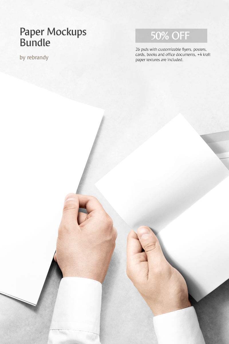 "Paquete ""Paper Mockups"" #68855"