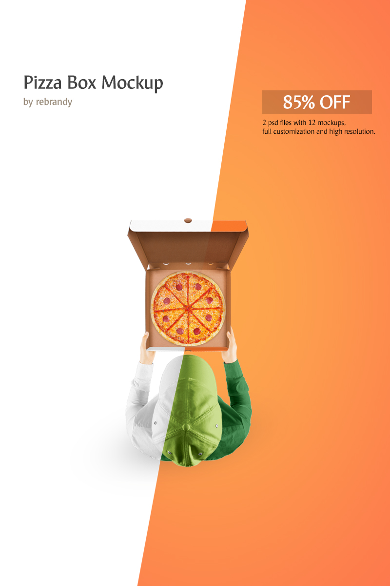Pizza Box - Product Mockup #68870