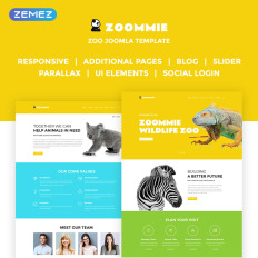 It africa joomla wild life template for biological park & zoo.