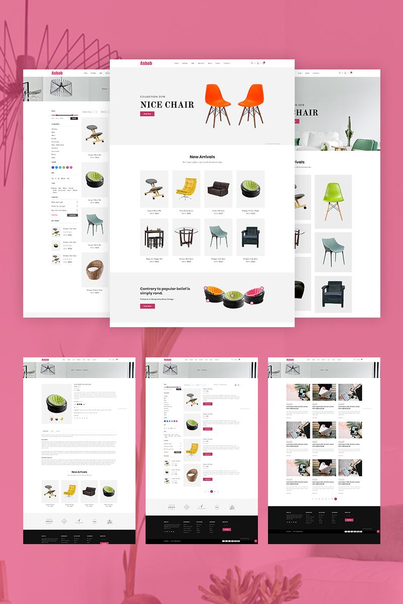 Reszponzív Asbab - eCommerce Weboldal sablon 68847 - képernyőkép