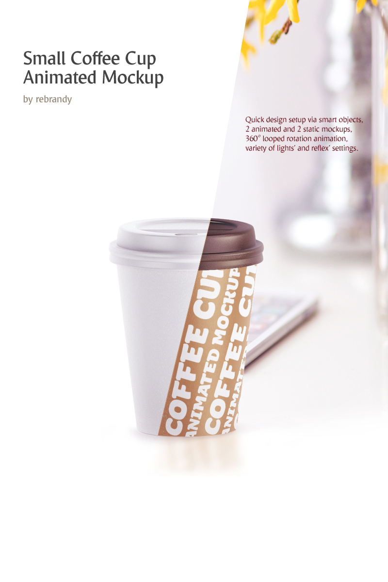 Small Coffee Cup Animated Product Mockup #68825