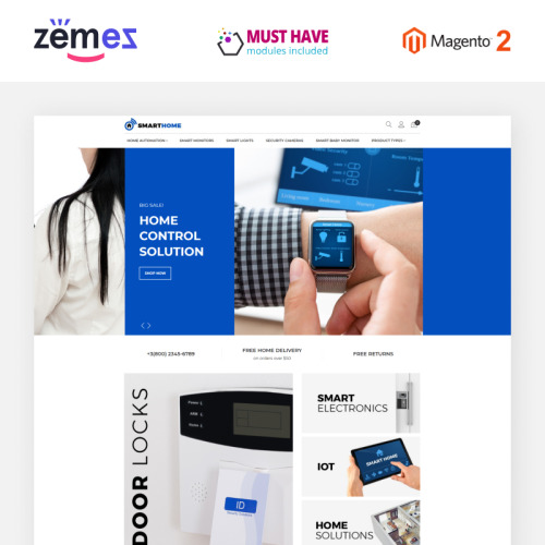 SmartHome - AMP Home Electronics - Responsive Magento Template
