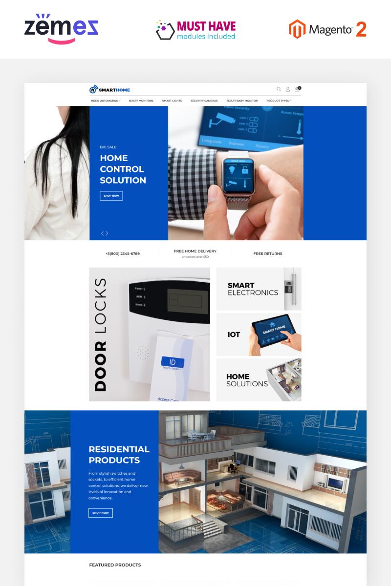 """""""SmartHome - AMP Home Electronics"""" thème Magento adaptatif #68816"""