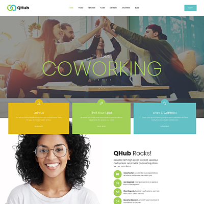 Tema de WordPress para Sitio de Oficinas #68818