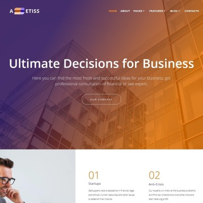 Temas WordPress con Parallax | TemplateMonster