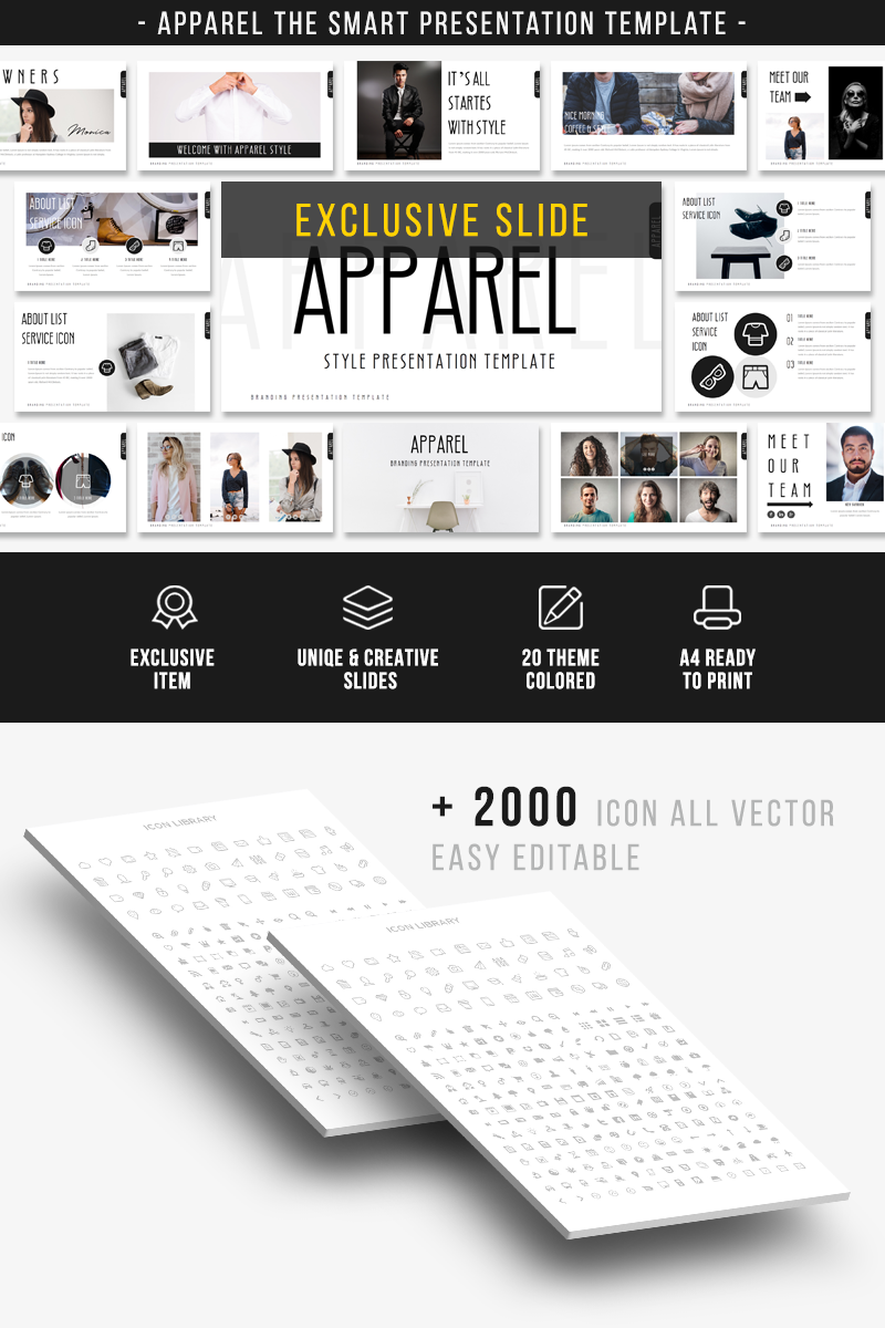 "Tema PowerPoint #68862 ""APPAREL -"""