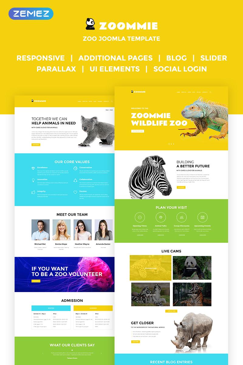 """Zoomie - Wildlife Zoo"" thème Joomla adaptatif #68897"
