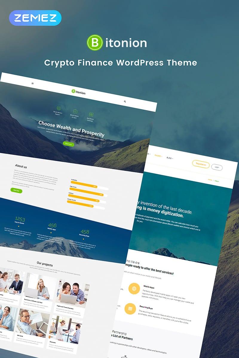 Bitonion - Cryptocurrency Elementor WordPress Theme