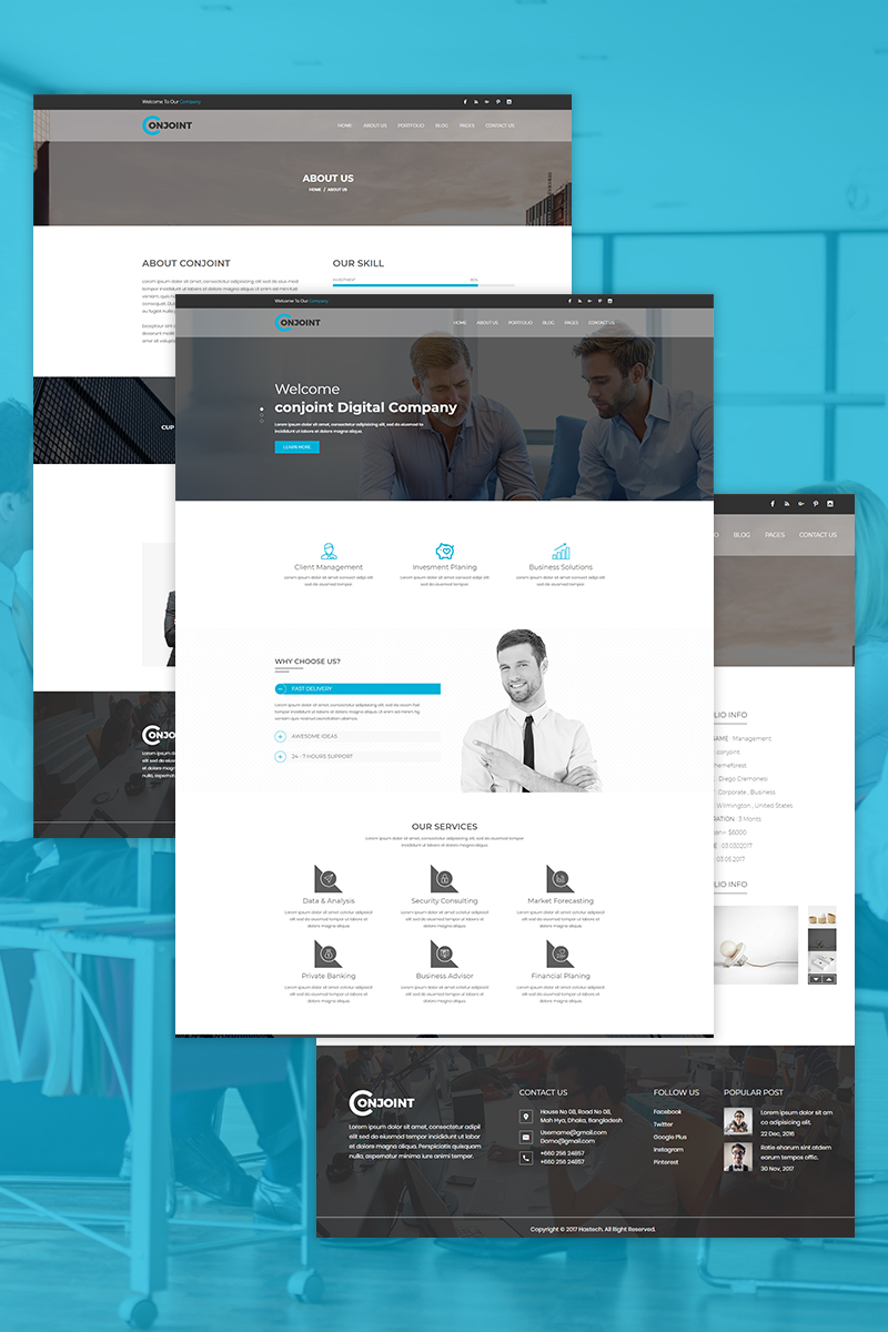 Conjoint - Corporate Website Template