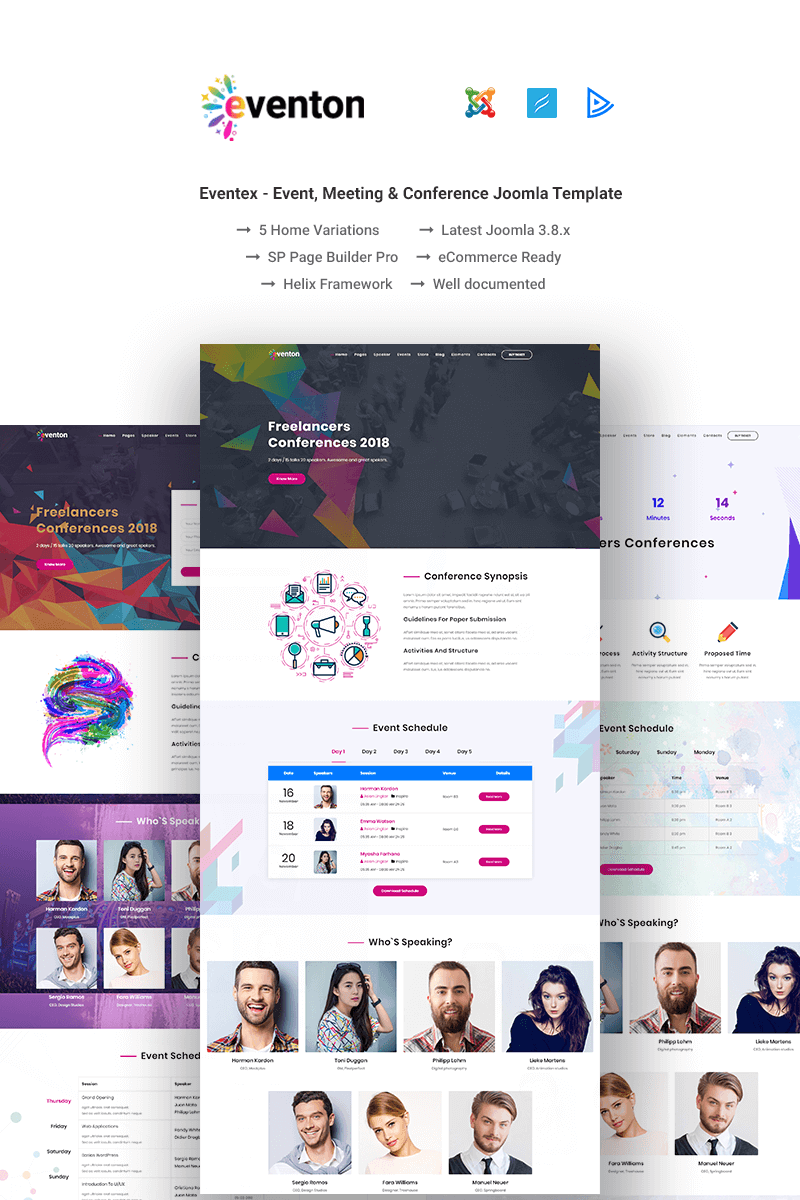 Eventon - Event / Conference Joomla Template