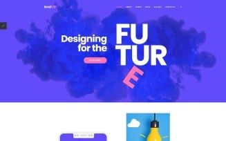 LevelUp - Startup Company Landing Page Joomla Template