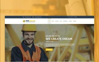 Msn Mistiri - Construction Website Template