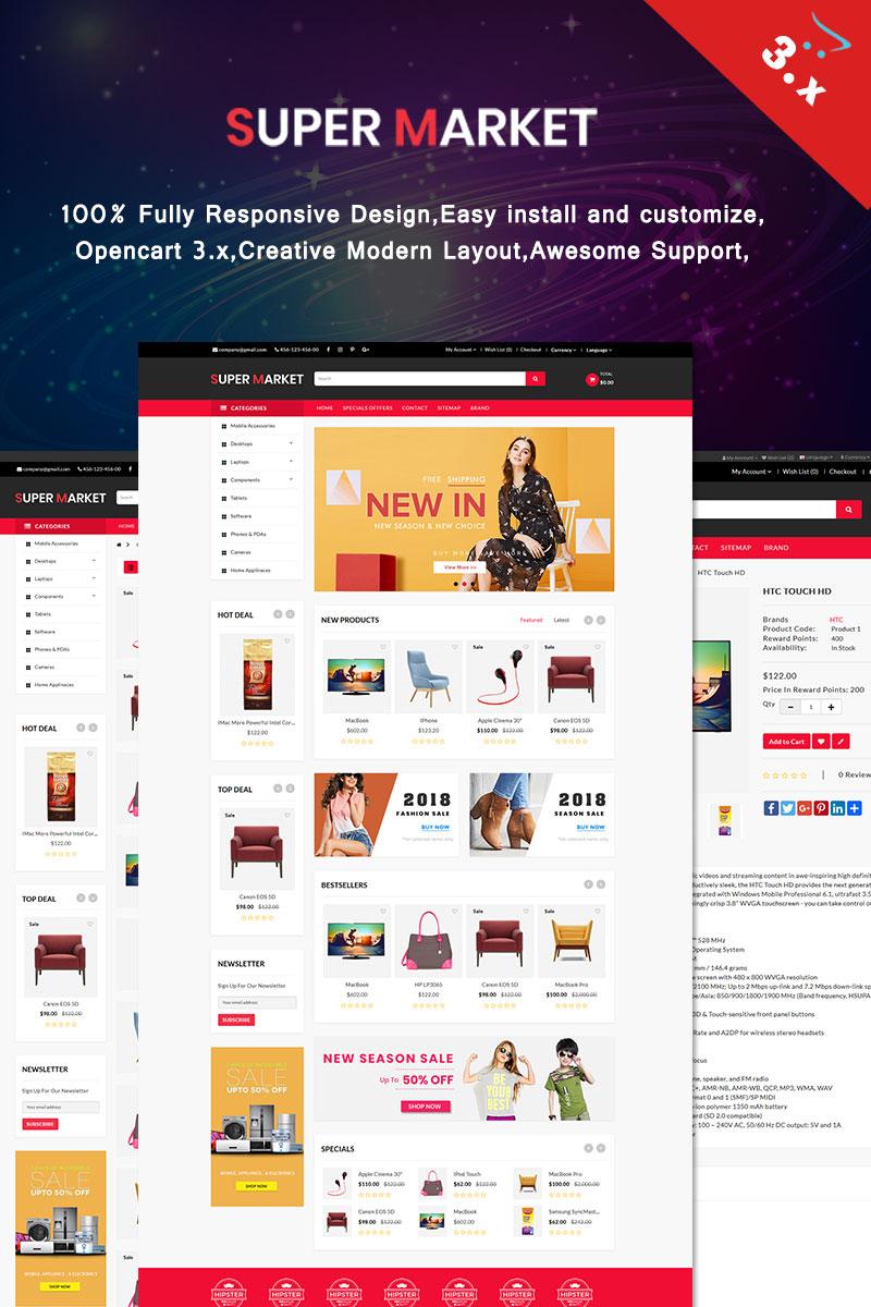 Responsive Super Market Opencart #68905