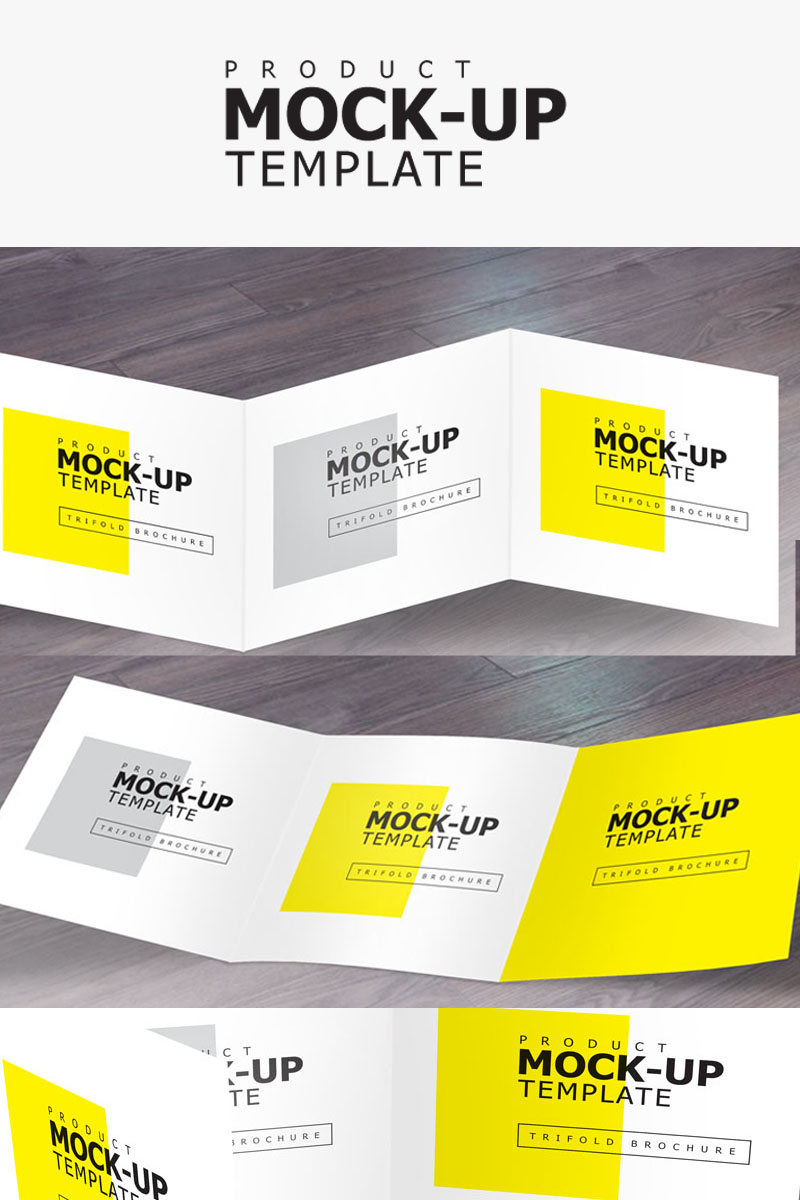 Square Trifold Product Mockup #68943
