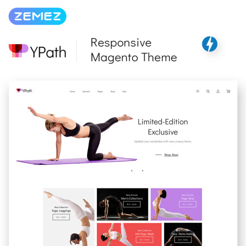 YPath - AMP Yoga Store - Responsive Magento Template