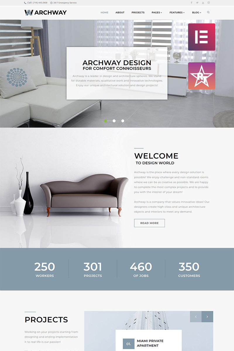 Archway - Architecture Agency Elementor WordPress Theme
