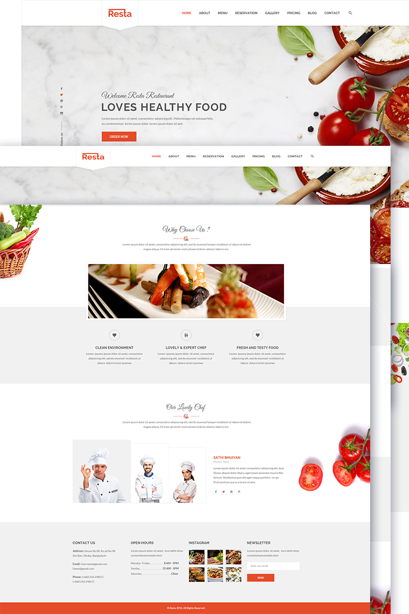 Cafe And Restaurant Website Template 69067 Templates