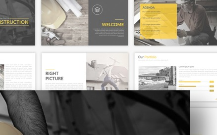 Construction Presentation PowerPoint Template