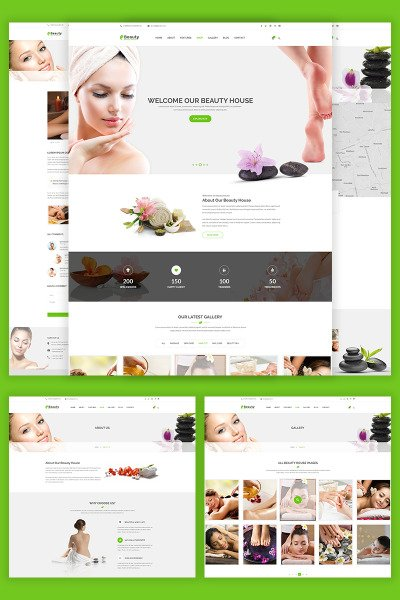 """Beautyhouse - Health & Beauty"" modèle web adaptatif #69065"