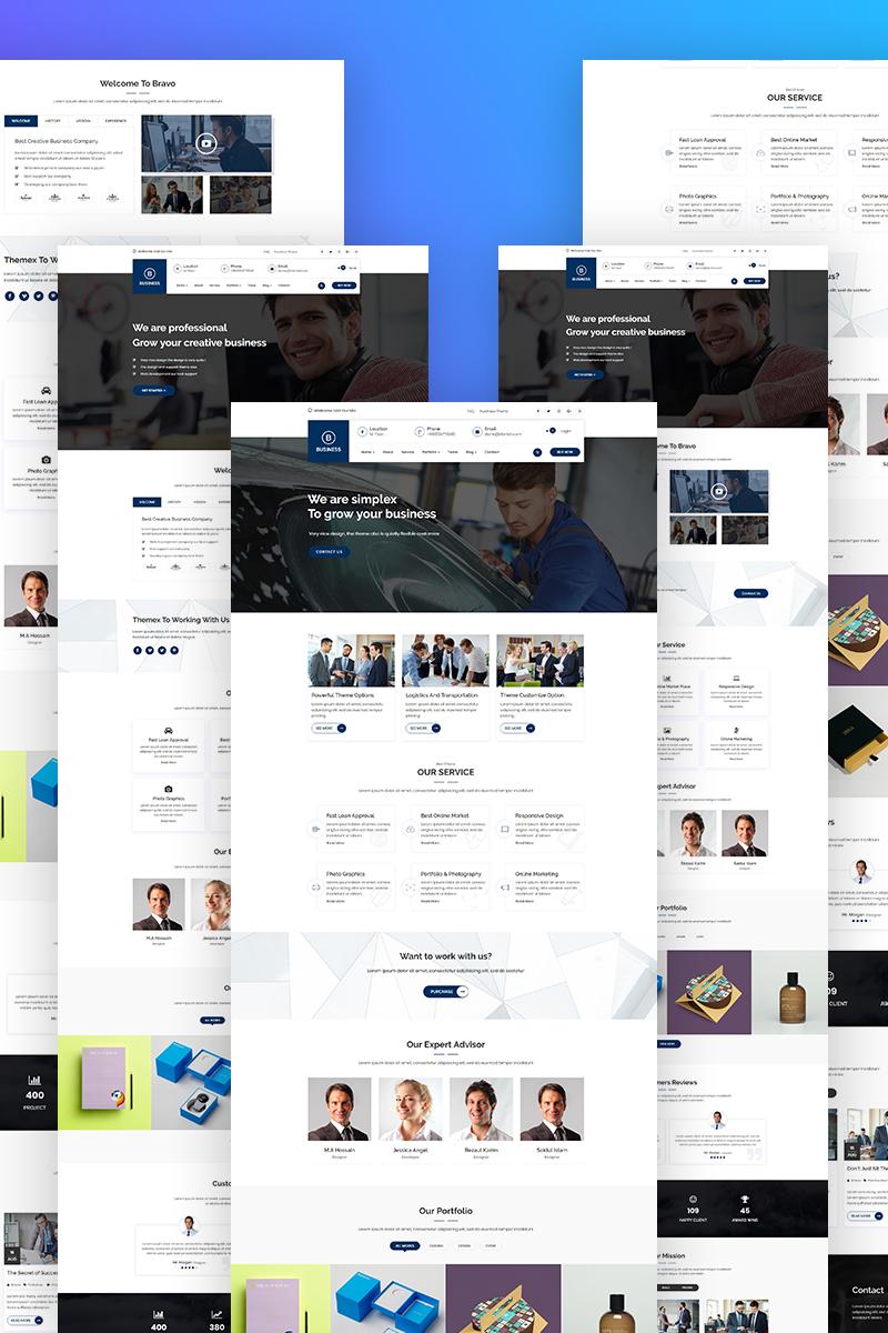 """Bravvo - Corporate"" thème WordPress Bootstrap #69044"