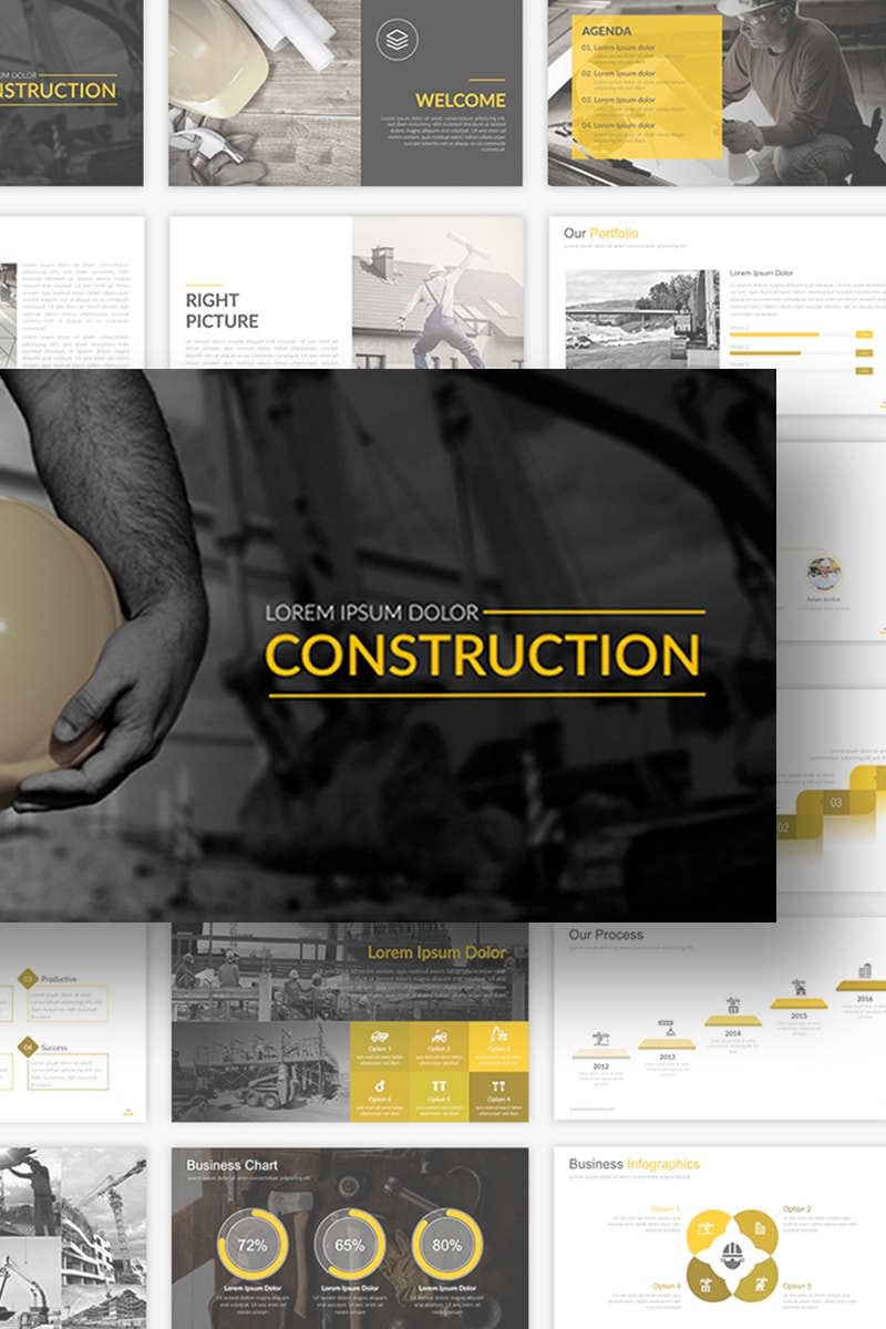 Construction Presentation PowerPointmall #69094