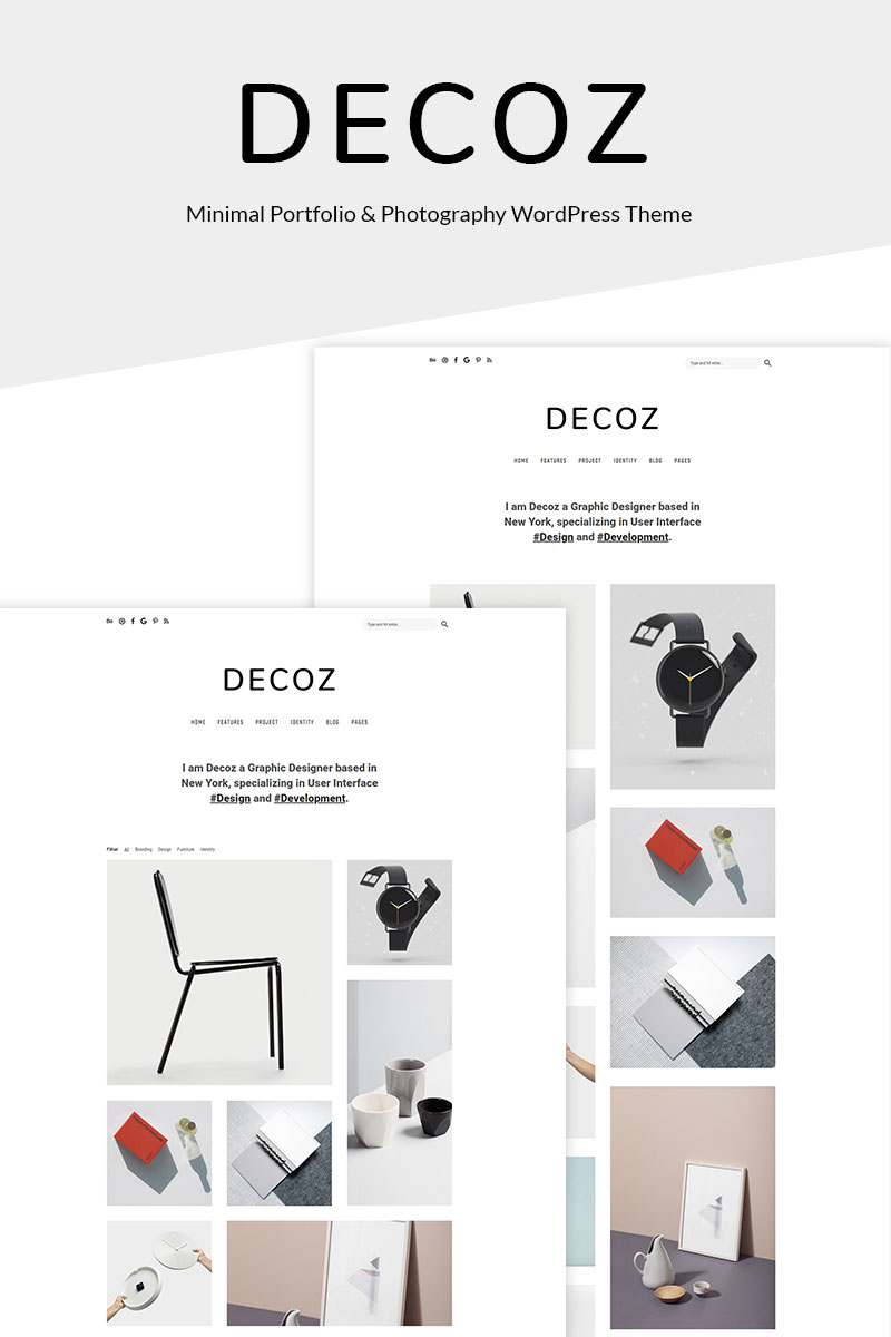 Decoz - Minimal Portfolio & Photography Tema WordPress №69025