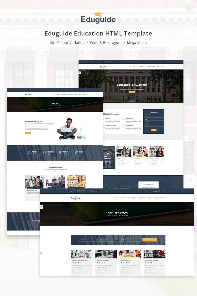 Eduguide - Education Website Template - screenshot