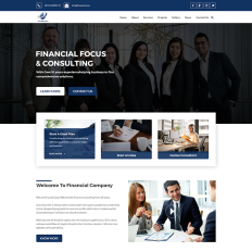 Business services psd templates templatemonster financial business and finance bootstrap psd template wajeb Gallery