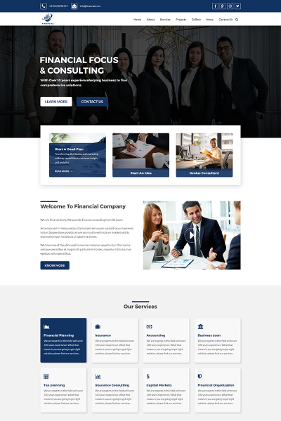 Financial - Business and Finance PSD Template #69059