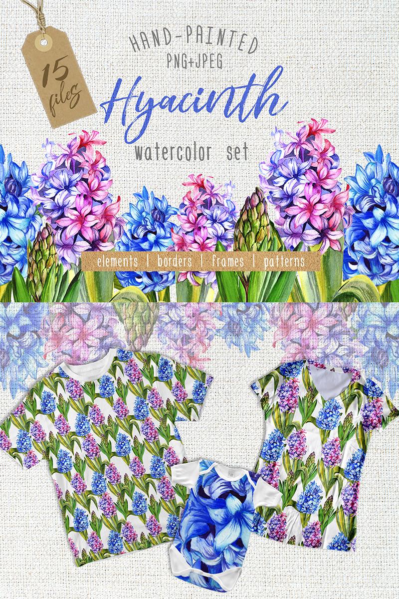 """Ilustración """"Colorful Hyacinth PNG Watercolor"""" #69081"""