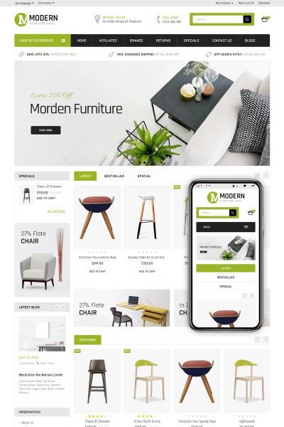 Modern Furniture Store Opencart Şablon #69063
