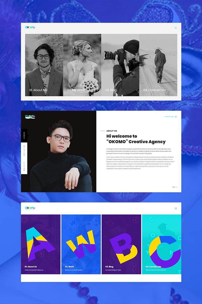 Okomo - Creative Portfolio Website Template - screenshot