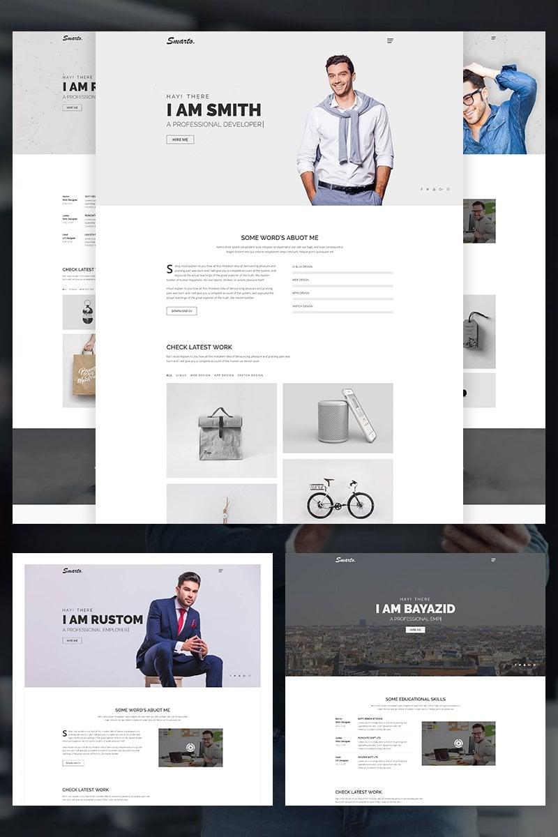 Smarto - Creative Portfolio Website Template - screenshot